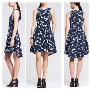 NWT! Blue/White Floral Fit & Flare Dress
